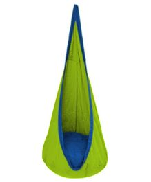 Slackjack Kids Nest Swing - Green & Blue