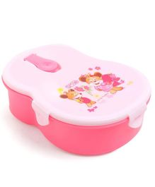 Lunch Box With Spoon - White Pink