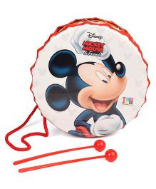 Disney Medium Toy Drum Set Mickey Mouse Print - Cream