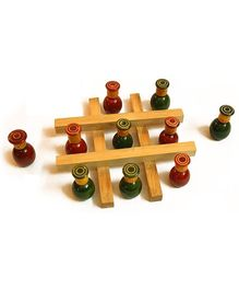 Aatike - Wooden Tic Tac Toe Game