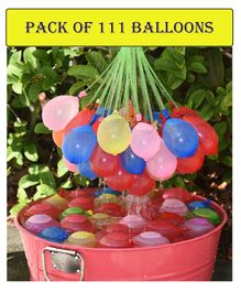 Syga Fast Fill Magic Holi Water Balloons Pack of 111 - Multi Color
