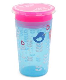 Munchkin Miracle 360 Decorated Sippy Cup Bird Print Blue Pink - 266 ml
