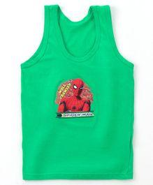 4ed61c59e Bodycare Sleeveless Vest Spider Man Print - Green