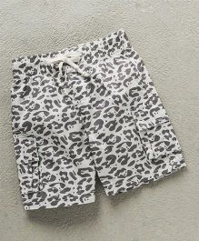 Gaga Bebe Cheetah Print Baby Shorts - Grey