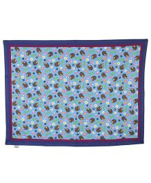 Yogis Organic Cotton Baby Quilt Animal Print - Blue