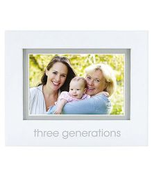 Pearhead Three Generations Photo Frame - White