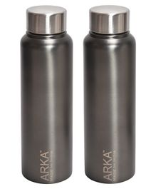 ARKA Stainless Steel Water Bottle Grey Pack of 2 - 500 ml each