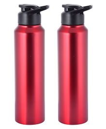 ARKA Stainless Steel Sipper Water Bottle Red Pack of 2 - 1000 ml each