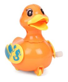 Playmate Wind Up Toy Duck Shape - Orange Yellow