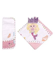 Abracadabra - Set Of Hooded Towel And Wash Cloth Mermaid