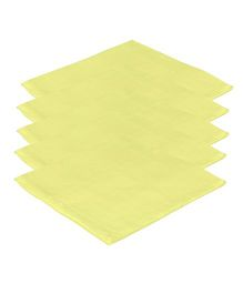 Lula Reusable Muslins Squares Nappies ack of 5 - Yellow
