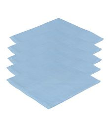 Lula Reusable Muslins Squares Nappies Pack of 5 - Blue