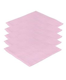 Lula Reusable Muslins Squares Nappies Pack of 5 - Pink