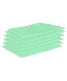 Lula Reusable Muslins Squares Nappies Pack of 6 - Green