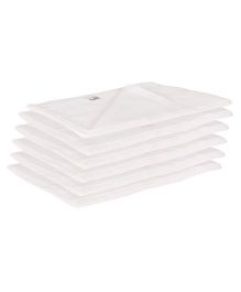 Lula Reusable Muslins Squares Nappies Pack of 6 - White
