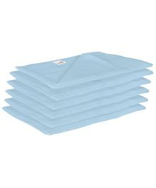 Lula Reusable Muslin Square Nappies Blue - Pack of 6