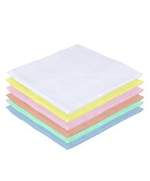 Lula Reusable Muslin Square Nappies Multicolour - Pack of 6