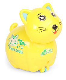 Playmate Wind Up Birth Cat Toy - Yellow