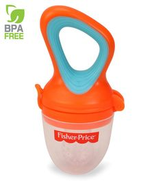 Fisher Price Ultra Care Silicone Food Nibbler With Extra Mesh - Orange