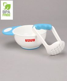 Fisher Price Baby Food Mash And Serve Bowl Set - Blue