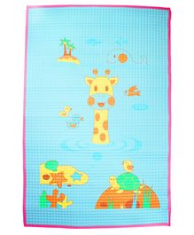 Ole Baby Air Filled Rubber Bed Protecting Changing Mat Giraffe Print - Off White