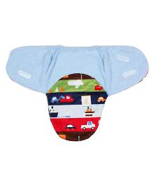 Ole Baby Mink Swaddle Blanket Cars & Boat Print - Multi Color