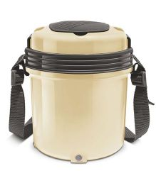 Milton Electron Electric Lunch Pack With 3 Stainless Steel Container Cream - 360 ml Each