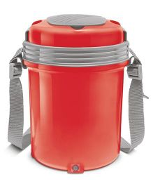 Milton Electron Electric Lunch Pack With 4 Stainless Steel Containers Red - 360 ml Each