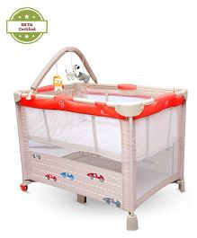 R for Rabbit Hide and Seek Baby Cot Cum Crib - Cream