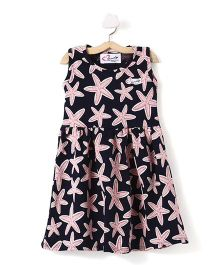 M'Andy Starfish Print Dress - Black