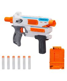 Nerf Modulus Mediator Blaster Toy - White Orange
