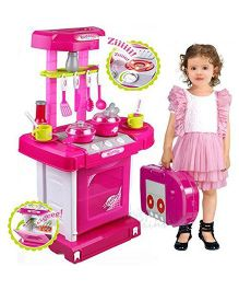 Toyshine Battery Operated Kitchen Set - Pink