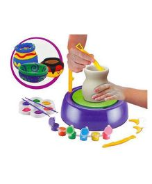 Toyshine Pottery Wheel Game With Colors and Stencils - Multicolor