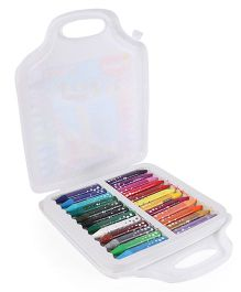 Maped Color Peps Oil Pastel Crayons With Plastic Box - Pack of 24 (Box Color May Vary)