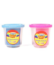 Imagician Playthings Glitter Clay Doh Pink Blue Pack of 2 - 75 gm each