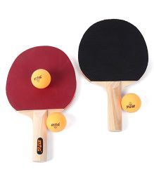 Stag Table Tennis Game Play Set - Maroon Black