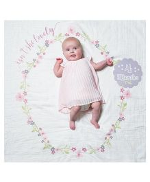 Lulujo Baby Isn't She Lovely Milestone Blanket & Cards Set