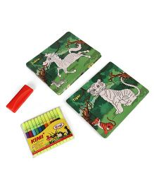 Toyenjoy Colour & Wipe Animals Flash Cards Multi Colour - Pack of 24 cards