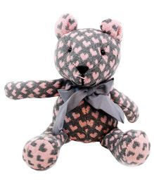 Abracadabra Handmade Bear Soft Toy Grey - Height 28 cm