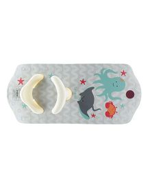 Tubeez Baby Bath Support With Suction Octopus Print - Grey