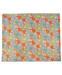 Honey Bunny Soft Coral Blanket- Grey