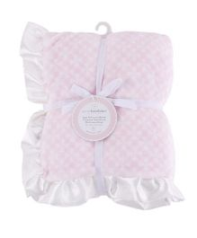Piccolo Bambino Luxury Blanket With Satin Frill - Pink