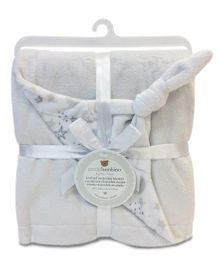 Piccolo Bambino Knotted Reversible Chamois Blanket - Grey