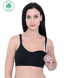 Inner Sense Organic Antimicrobial Soft Feeding Bra - Black
