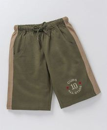 JusCubs Casual Boys Shorts - Olive Green