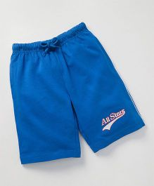 JusCubs All Star Print Casual Boys Shorts - Royal Blue