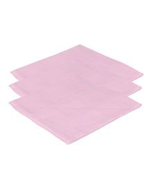 Lula Reusable Muslin Square Towels Pack of 3 - Pink