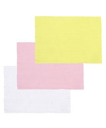 Lula Reusable Muslin Square Nappies Pack of 3 (Colors May Vary)