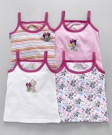 dbb00062c Bodycare Slips Minnie Mouse Print Pack of 4 - White Pink