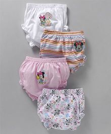 Bodycare Panties Pack of 4 - Pink White (Print May Vary)